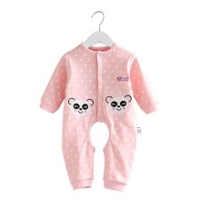 Baby Suit Clothing Long-Sleeved Cotton Baby Crawl Sports Open Fork Cotton J