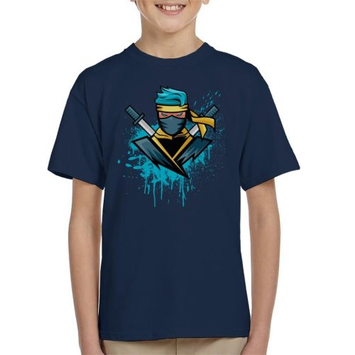 Gamer Blue Ninja NinjasHyper Kid's T-Shirt