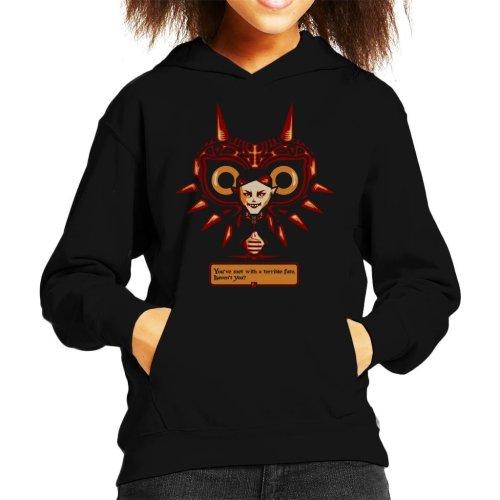 Terrible Fate Majoras Mask Legend Of Zelda Kid's Hooded Sweatshirt