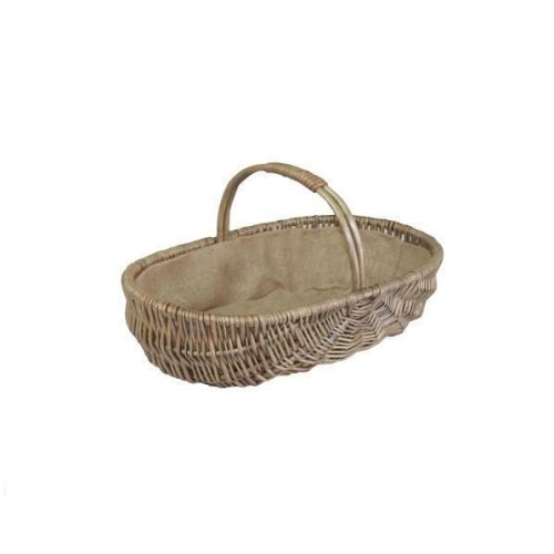 Small Shallow Antique Wash Lined Garden Trugs