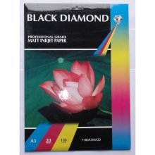 A3 180gsm Black Diamond Matt / Matte Inkjet Paper