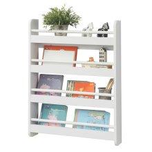 SoBuy® KMB08-K-W, Wall Mounted 4 Tiers Children Bookcase Storage Shelf