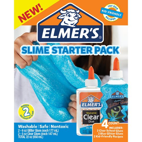 Elmer's Slime Kit 4/Pkg-Blue Glitter