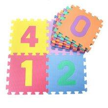 Colorful Waterproof Baby Foam Playmat Set-10pc, Number