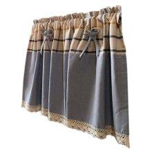 Lovely Cafe Curtain Window Valance/Plaid Curtain, Blue&Yellow(135*60cm)
