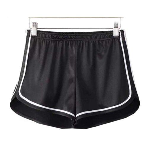 Women's Hot Gym Sport Shorts Shiny Metallic Pants, #A 1