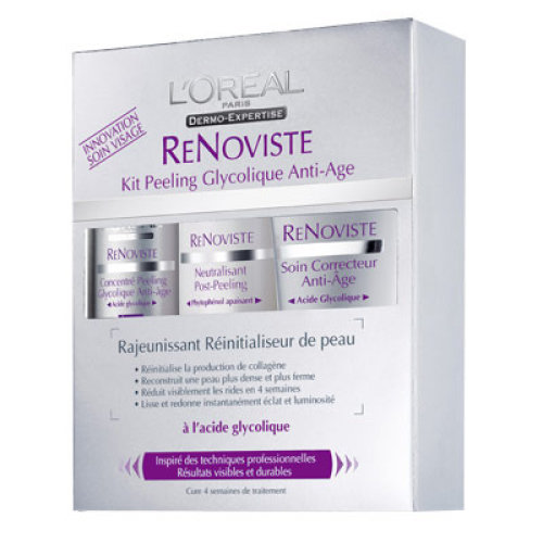L 'Oréal Renoviste Anti-Ageing glicólica Exfoliation Kit