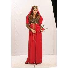 Red Ladies Juliet Costume -  juliet fancy dress costume ladies medieval outfit red adult womens princess