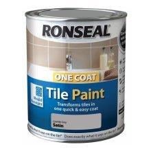 Ronseal One Coat Tile Paint 750ml - SATIN Granite Grey