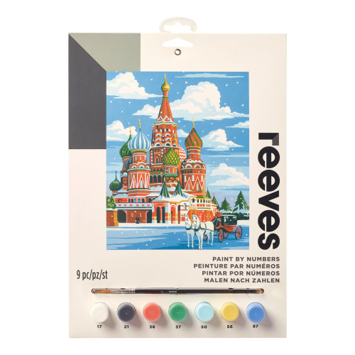 Reeves Painting By Numbers-St. Basils Cathedral