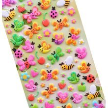 5 Sheets Funny Cartoon Stickers Children Decorative Toys[Bee]