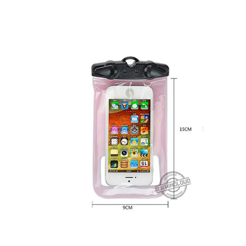 """4.8""""*2.9"""" Waterproof Underwater Swimming Diving Dry Bag Pouch, Pink"""