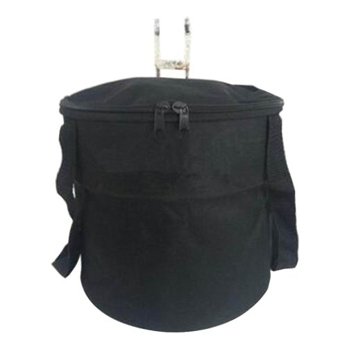 [D] Waterproof Canvas Bicycle Basket Foldable Lidded Basket for Bike