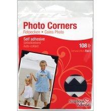 Black Pack Of 108 Photo Corners -  photo corners paper scrapbook adhesives black selfadhesive 108pkblack classic
