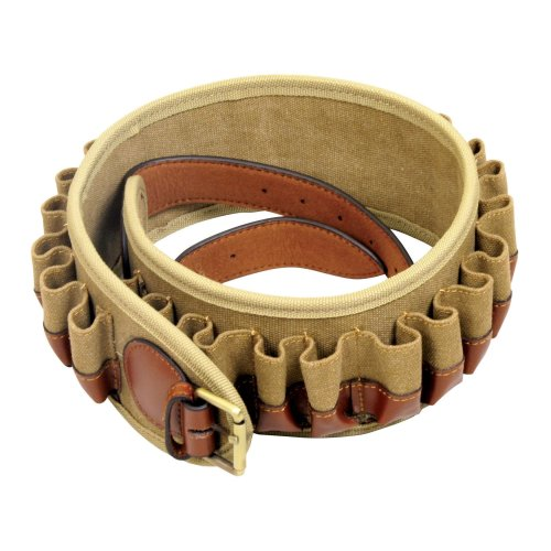 Guardian Heritage Shotgun Cartridge Belt 12g or 20g - 25 Carts Canvas Leather