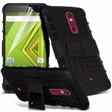 Itronixs - Sony Xperia E5 Rugged Heavy Duty Armour Shock Proof Hard Stand Case Cover with Lcd Screen Protector