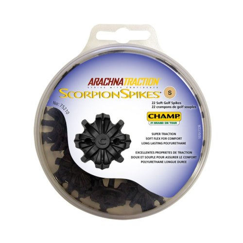 Champ Scorpion Golf Spikes 6mm Small Metal Thread Cleats