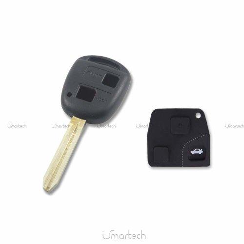 Heart Horse 2 Button Remote Key Fob Case Compatible with Toyota Camry Rav4  Prado Corolla Tarago Avensis Avalon Ehco Land Cruiser Car Key Shell