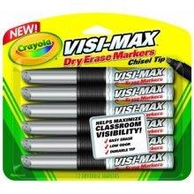 Crayola Dry Erase Markers (12 Count), Visimax BL Black