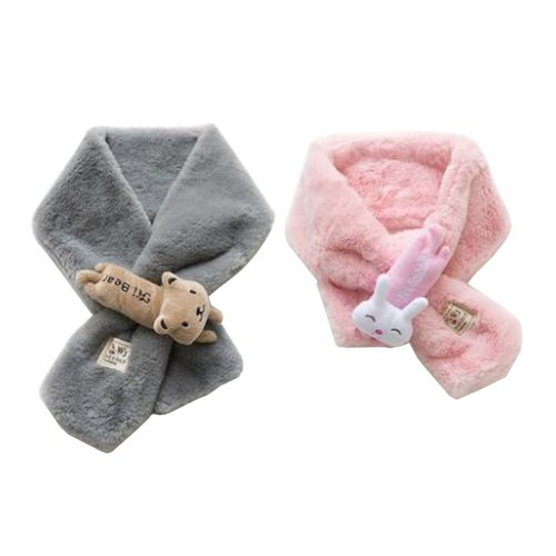 Set of 2 Cute Kids Scarves Children's Scarves Suitable for Winter [W]