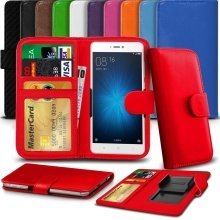"iTronixs - Archos 40 Power (4"") High Quality Clamp Style PU Leather Wallet Case Cover"