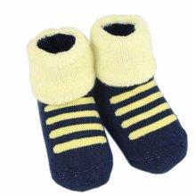Set of 2 Newborn Thick Warm Cotton Socks 0-24 Months Baby Navy