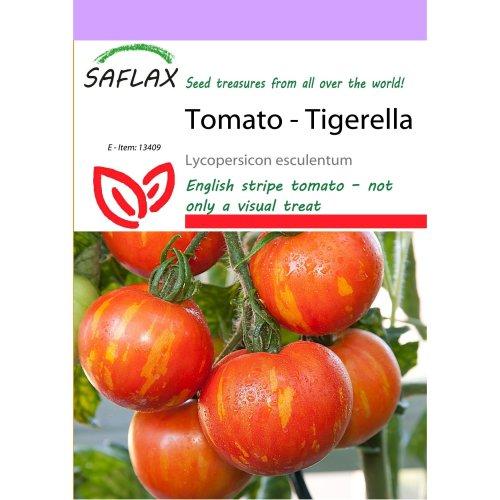 Saflax  - Tomato - Tigerella - Lycopersicon Esculentum - 10 Seeds