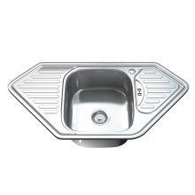 Dihl 1071 1.0 Single Corner Bowl Stainless Steel Kitchen Sink, Drainer & Waste