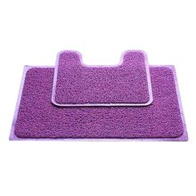 A Set of  Nonslip PVC U-shaped Toilet Rug Bath Mats Bathroom Carpet Mat, B