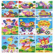 Set of 12 Funny Sticky Mosaics Pictures, Preschool Toy for Kids