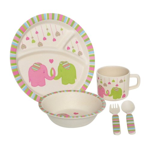 Eden 5Pc Kids Elephant Dinner Set