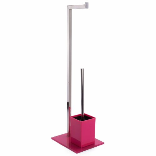 MSV Sydney WC Brush, Stainless Steel, fuchsia, 30  x  20  x  15 cm