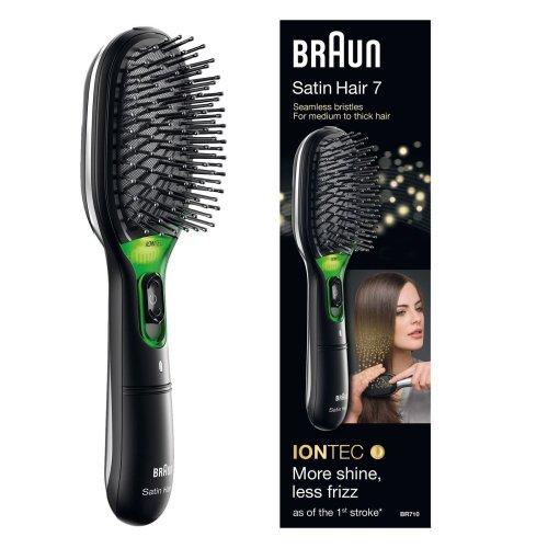 Braun BR710 Satin Hair 7 Women Iontec Hair Brush Portable Travel Battery Powered