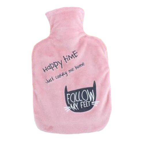 1000mL Winter Handwarmer Pocket Cute Hot-Water Bottle Water Bag Pink