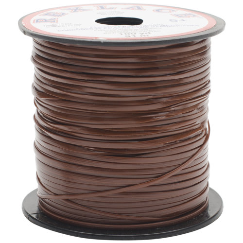 """Rexlace Plastic Lacing .0938""""X100yd-Brown"""