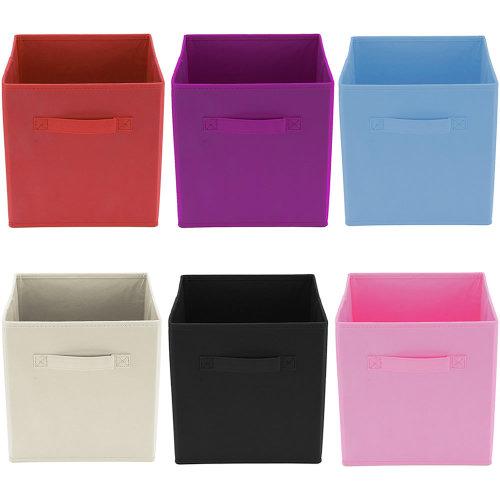 Foldable Square Fabric Storage Box Drawer Toys Books Clothes Folding Organiser