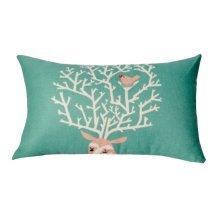 Beautiful Lumbar Pillow Simple Practical Office Rectangle Pillow, Green