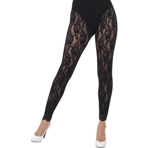 Smiffy's 44512 80s Lace Leggings (one Size) -  lace 80s leggings smiffys 44512 one size fancy dress black