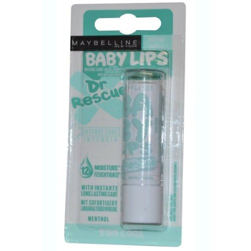 Maybelline Baby Lips Intense Care Lip Balm with Eucalyptus 4ml Too Cool Dr Rescue