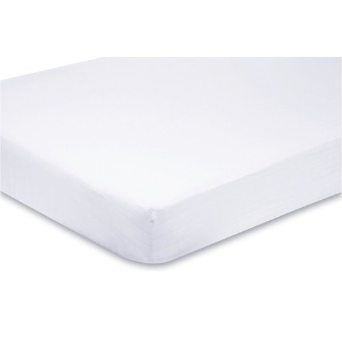 4x Fitted Sheets Compatible With Chicco Next 2 Me 100% Cotton -White