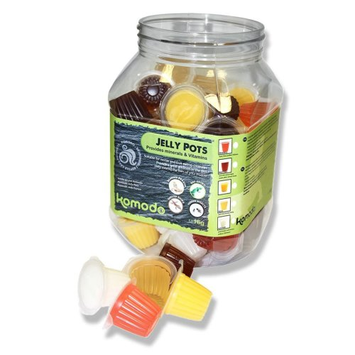 Komodo Jelly Pots Mixed Flavours Display Jar (Pack of 60)