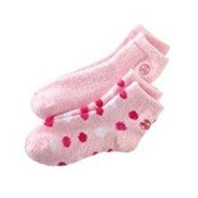 Earth Therapeutics 2pk AloeInfused Socks Pink Polka Dot &amp Solid