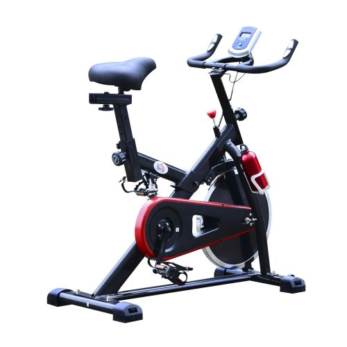 Homcom Adjustable Exercise Bike | Indoor Flywheel Spin Bike