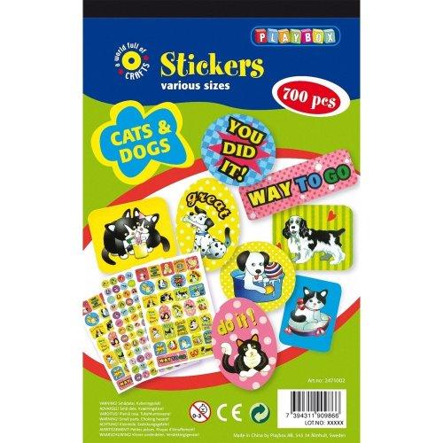 Pbx2471002 - Playbox - Sticker Pad (cats and Dogs) - 700 Pcs