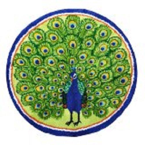 """Latch Hook Rug Kit""""Peacock"""" 82cm Diameter"""