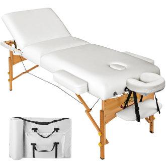 3-zone massage table 10 cm padding + bag white