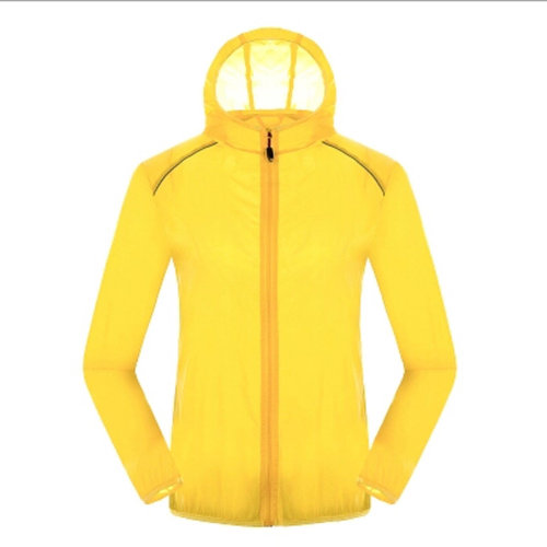 Lightweight UV Protector Quick Dry Windproof Skin Coat Sports Jacket,Yellow