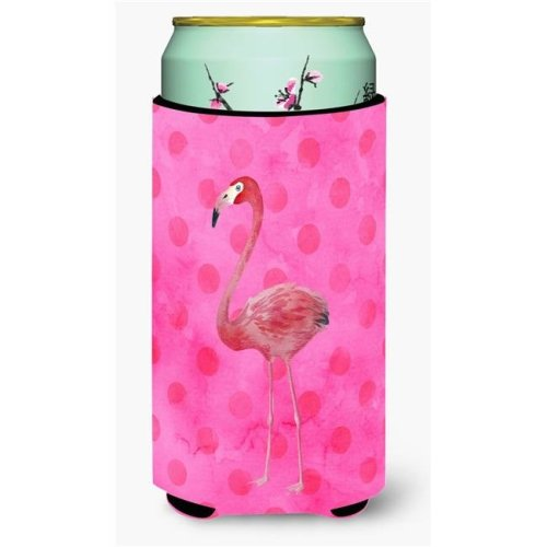 Carolines Treasures BB8189TBC Flamingo Pink Polkadot Tall Boy Beverage Insulator Hugger