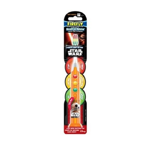 Firefly Star Wars 'Ready Go' Flashing Toothbrush (Green/Amber/Red Lights)