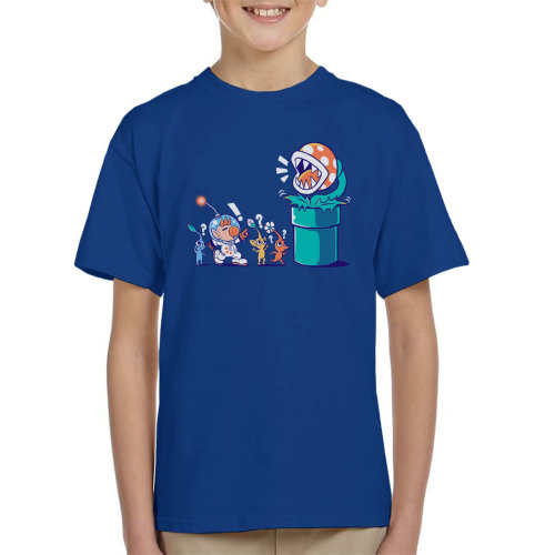 Super Mario Pikmin Wrong Planet Kid's T-Shirt